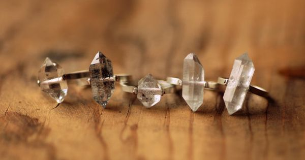 Unique Herkimer Diamond Engagement Rings