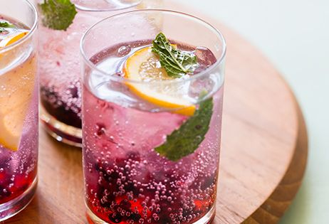 Blackberry & Meyer Lemon Gin & Tonics | Recipe | Gin, Blackberries an...