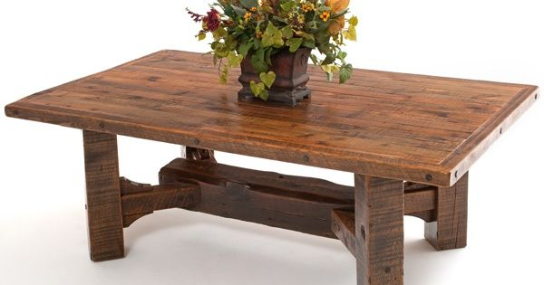 Barnwood Dining Table Timber Frame Design #8 - Item #DT00431 - Can Be Expandable - 17 ...