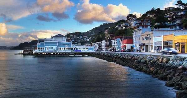 Downtown Sausalito California Cafes Restaurants And