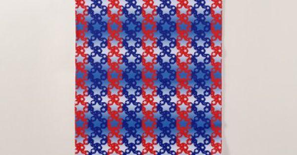 Blue White Stars Red Blue Stripes Beach Towel 4thofjuly