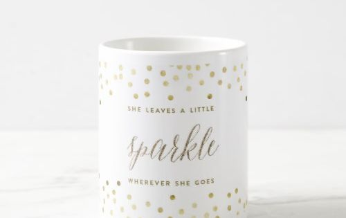 She Leaves A Little Sparkle Wherever She Goes Mug Zazzle Com Mugs Personalized Coffee Mugs Christmas Mugs
