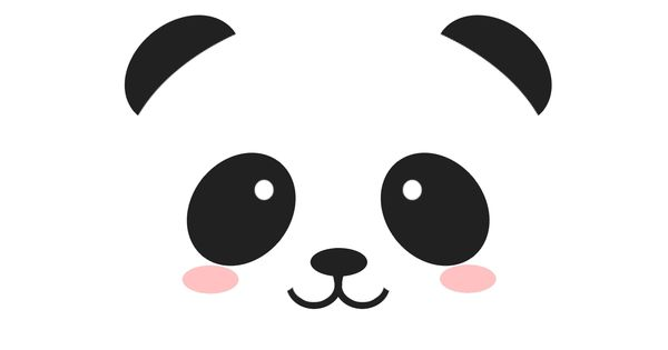 Download panda bear face template picture in many sizes for Panda bear cake template