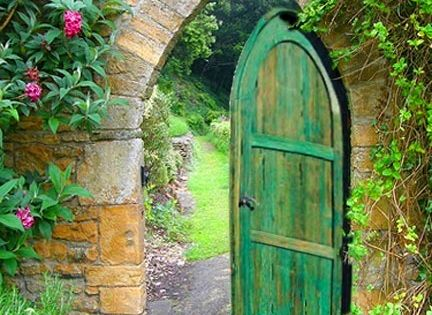 Through the green door and into the secret garden....