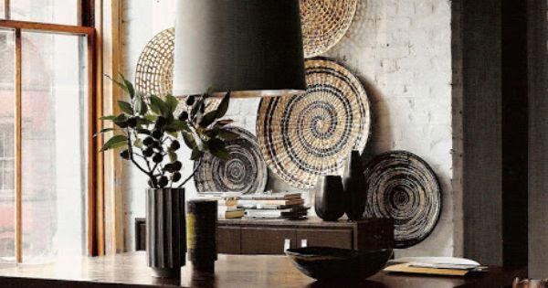 Decoracion facil decorar las paredes con cestos de mimbre for Decorar paredes facil
