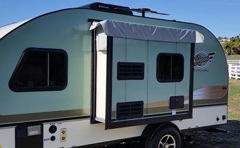 R Pod Slideout Wall Cover For Model 179 R Pod Pod Camper Small Trailer