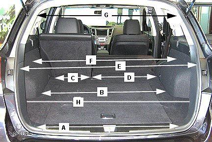 2010 Subaru Outback Cargo Dimensions