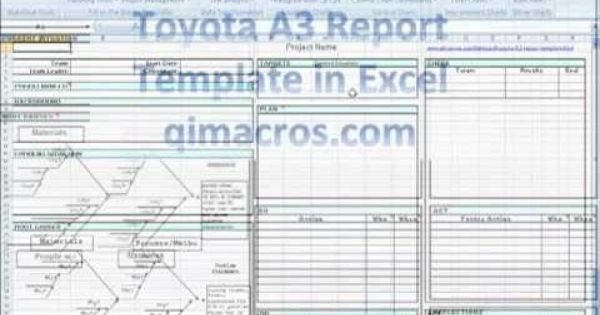 Toyota A3 Report Template In Excel Critical Thinking Skills