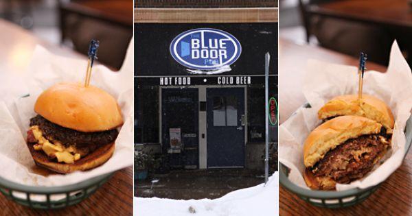 Blue Door Pub St Paul Mn Stuffed Burgers Blue Door Hot Meals Food
