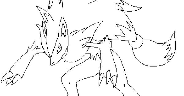 Zoroark Lineart2 By Michy123 On Deviantart Pokemon Coloring Pages Pokemon Coloring Drawing Base