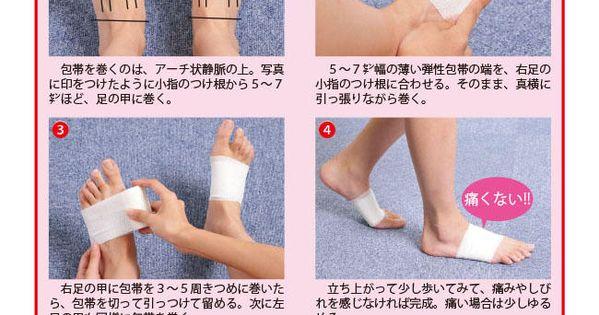 足の甲 テーピング