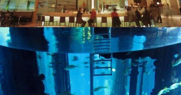 Thats on big fish tank. The Radisson Blu Hotel in Berlin has