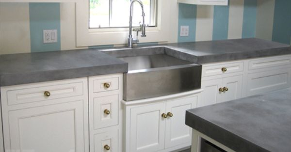 Concrete Countertops Trueform Concrete Custom Work Counters Yes Gold Hardware No Concrete Kitchen Kitchen Remodel Kitchen Remodel Small