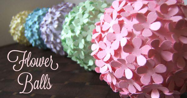 bl tenb lle flower balls bl ten stanzen und auf styropor kugel kleben kreativ sonstiges. Black Bedroom Furniture Sets. Home Design Ideas