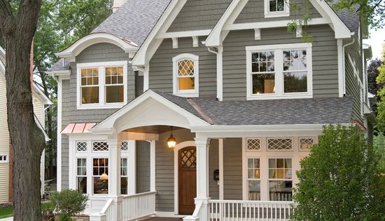 Southern Charm. Love the porch and all of the white trim. In