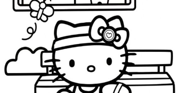 Hello Kitty Soccer Coloring Pages : Hello kitty sports coloring pages sport pinterest