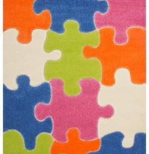 Zoomie Kids Howton Geometric Blue Green Orange Area Rug Kids Area Rugs Kids Rugs Rugs On Carpet