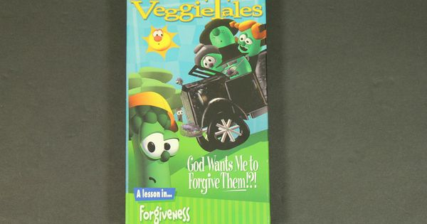 veggie tales god wants me to forgive them a lesson in forgiveness vhs tape blue in dvds  u0026 movies