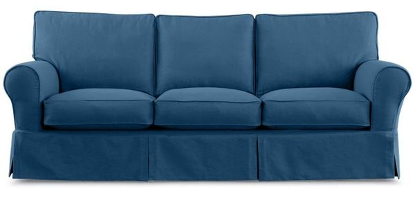 "Friday Twill 91"" Slipcovered Sofa"