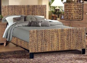 Maui Seagrass Bed Wicker Bedroom Furniture Wicker Bedroom