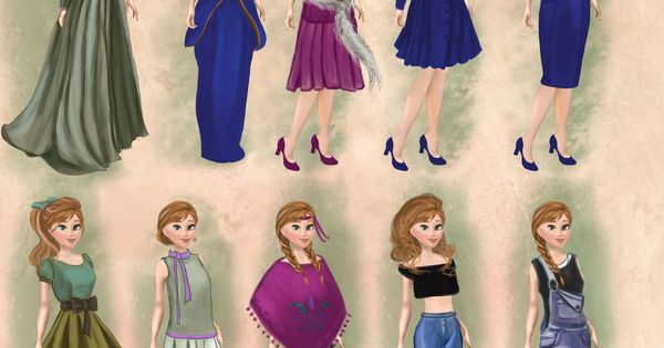 anna in 20th century fashion anna frozen disneyprincess disney