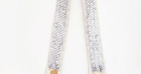 sequin camera strap/ sewing project idea