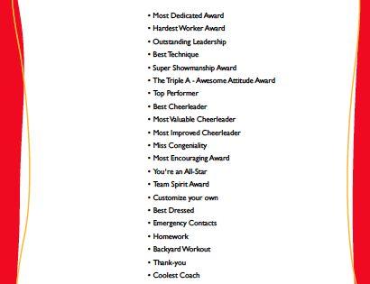 Cheerleading awards google search cheer banquet pinterest cheer cheerleading and google for Cheer award ideas