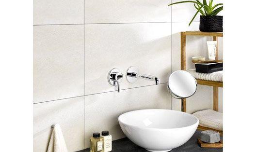 Dalle murale pvc beige dumawall x - Dalles pvc salle de bain ...
