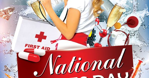 Free nurses day party flyer psd template for Nurses week flyer templates
