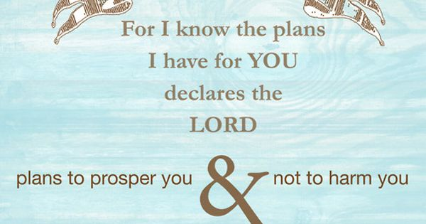 Jeremiah 29:11 ~†~ I Know The Plans I Have For You
