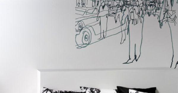 Hetkia Wall Mural Black/Grey/White  그래픽 디자인  Pinterest  그래픽 디자인