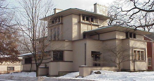 William g fricke house frank lloyd wright 1902 oak - Frank lloyd wright maison ...