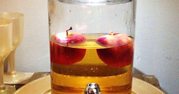 Snow White Birthday Party Ideas | Apple juice