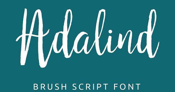Adalind Brush Script – completely handmade