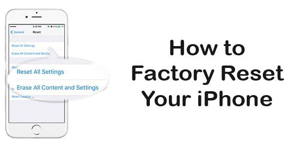How To Factory Reset Iphone To Factory Setting Iphone Tutorial