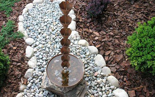 Another Rain Catcher Rather Than Rain Gutter Idea So Cool Rain Chain Copper Rain Chains Downspout