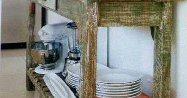 Mueble r stico tipo isla para cocina pinteres - Mueble cocina rustico ...