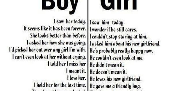 Boy: I Saw Her Today. Girl: I Saw Him Today. B: It Seems