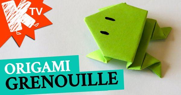 grenouille en papier origami facile how to make an origami frog origami facile easy. Black Bedroom Furniture Sets. Home Design Ideas