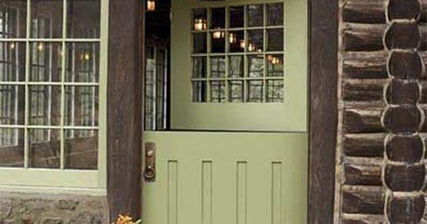 Craftsman Style Dutch Doors Dutch And Log Cabins