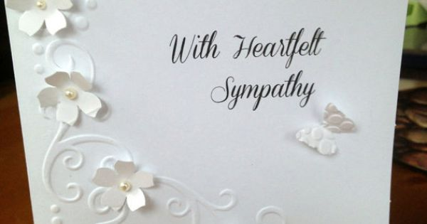 Handmade Card Sympathy With heartfelt by HandMadeCardsBySheri, $5.00