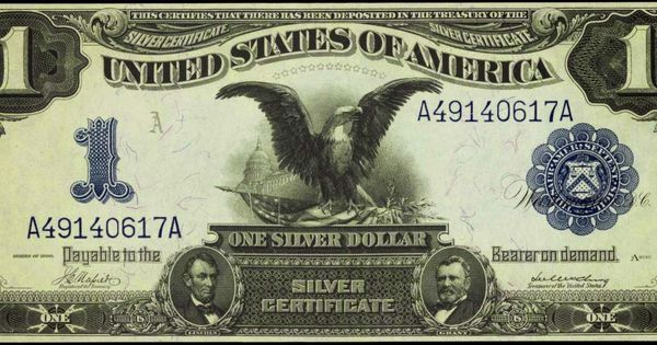 Paper Money Of The United States One Dollar Silver