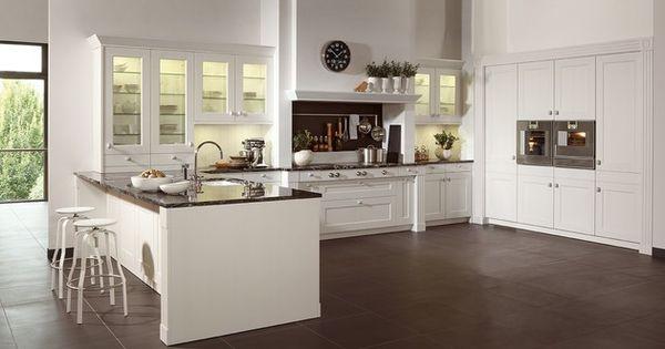 landelijk moderne keuken grijze wand - Google zoeken  keuken ...