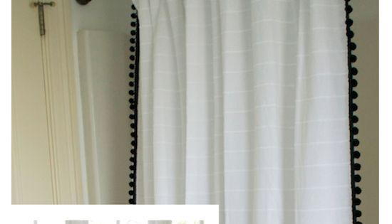 ballard designs shower curtain knock off amp hardware update burlap linen drapes and curtains 226 half price drapes