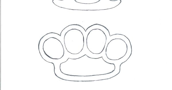 Brass knuckles knuckle duster plans templates designs how for Brass knuckles template