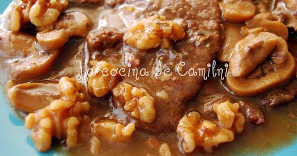 La cocina de Camilni: Escalopines de ternera flambeados con nueces y ...