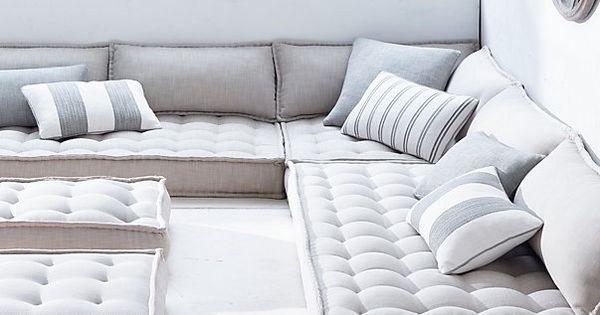 Floor Pillows Restoration Hardware : Restoration Hardware - Tufted French Floor Cushions C+M Zen Room Pinterest Restoration ...