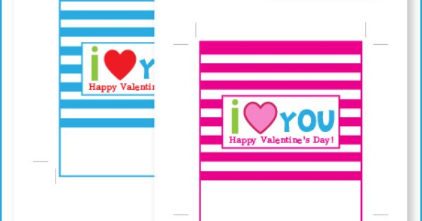 valentine's day i love you candy bar wrappers - free ...