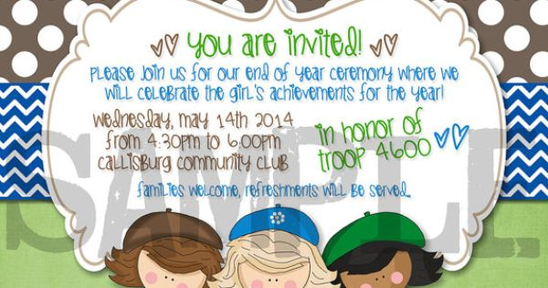 Girl Scout Bridging | Pinterest | Girl Scouts, Scouts and Invitations ...