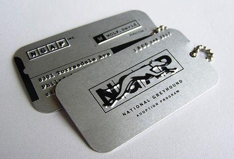 Greyhound Business Card Credit Card Case
